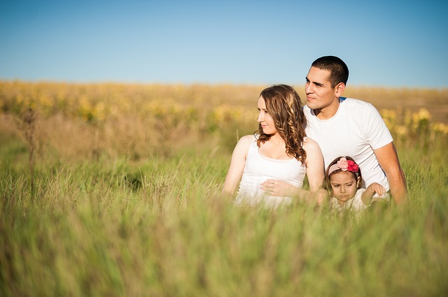 Familie mit Mann, Frau und Kind